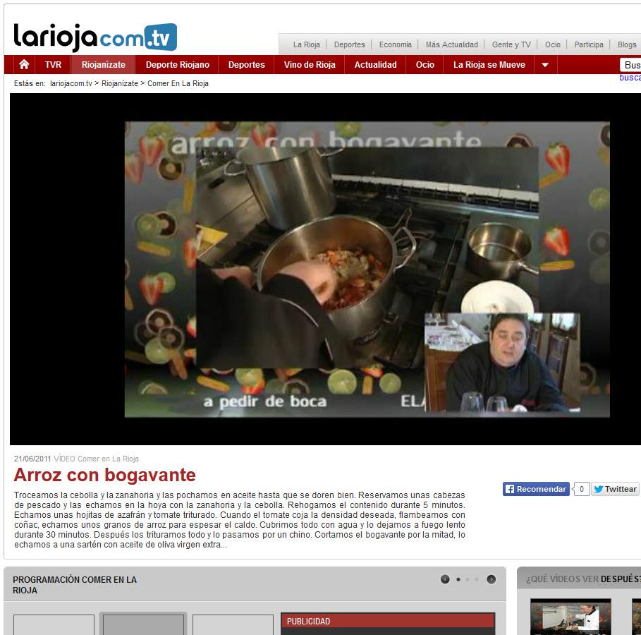 Video receta Arroz con Bogavante