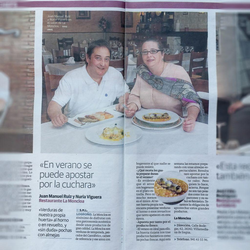 Cocina de Cuchara en verano. Tradicional de Rioja. Bogavante.